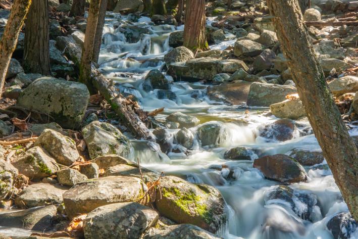 Runoff from Bridal Veil Falls