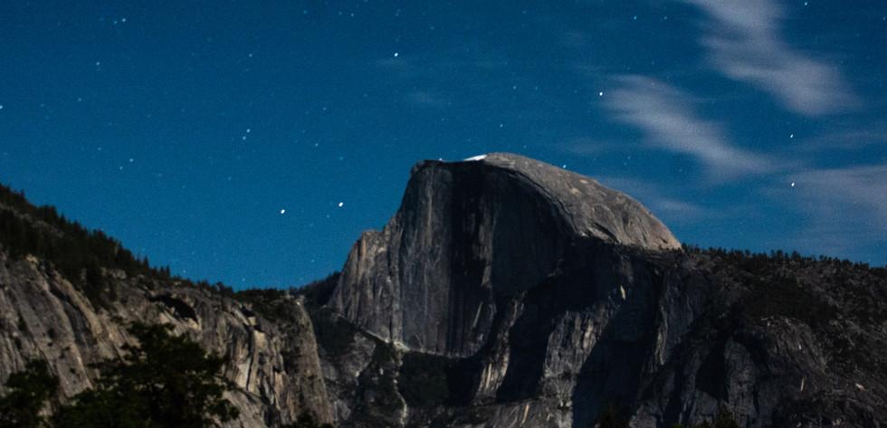 Half Dome at night