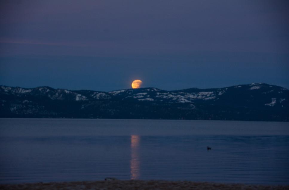Blood Moon over Mt Talac