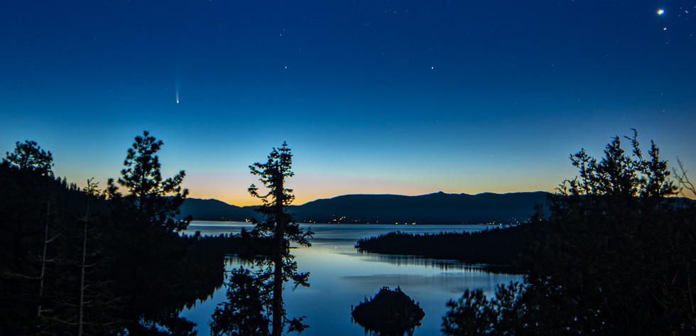 Emerald Bay at night
