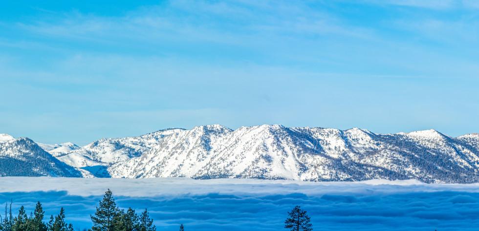 Panoramic View of a Lake Tahoe Inversion