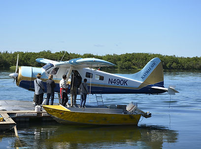 The sea plane is part of the adventure