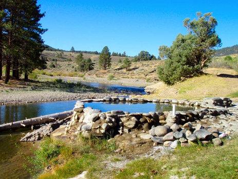 Natural Hot Springs tub