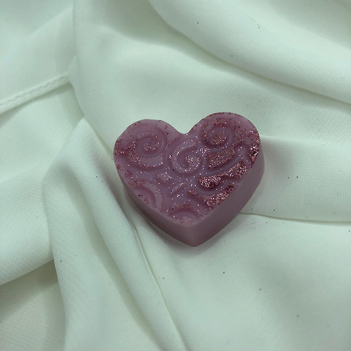 Coeur gravé Licorne