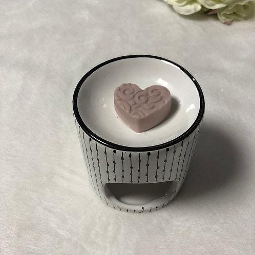 Coeur gravé Monoï rosé