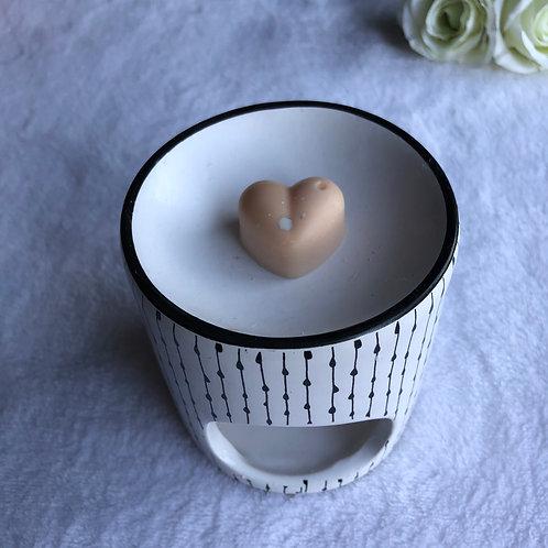 Petit coeur Nougat blanc