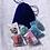 Thumbnail: Sac velours bleu Halloween