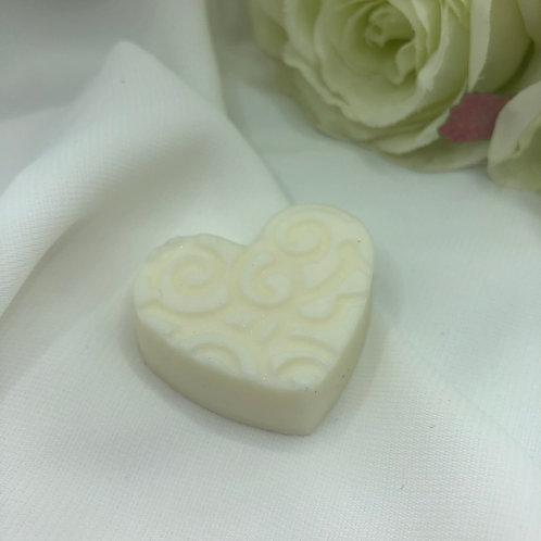 Coeur gravé Nougat blanc