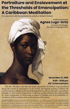 Poster for Portraiture Lecture Lugo-Orti