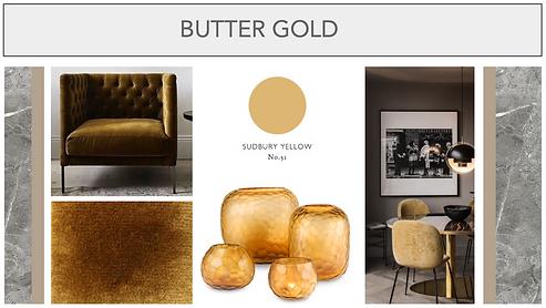 noodboard butter gold