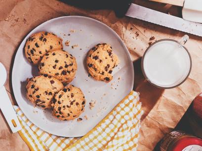 עוגיות שיבולת שועל, אגוזים וחמוציות