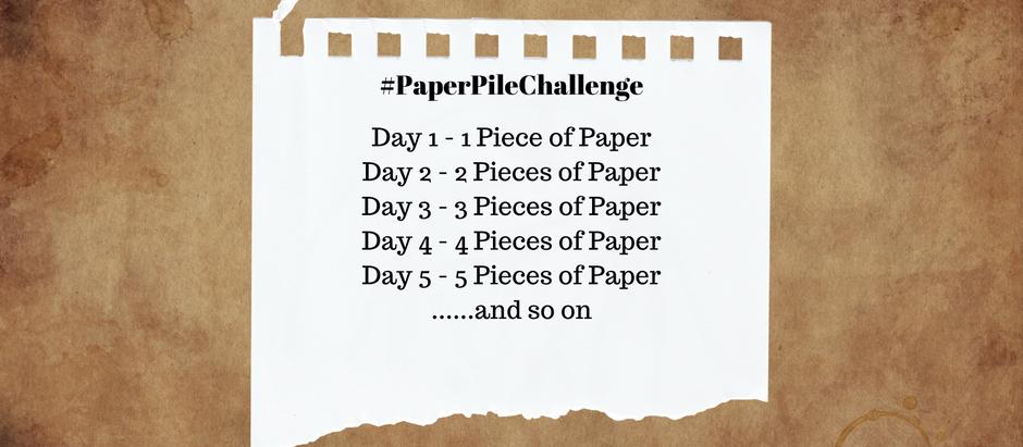 #PaperPileChallenge
