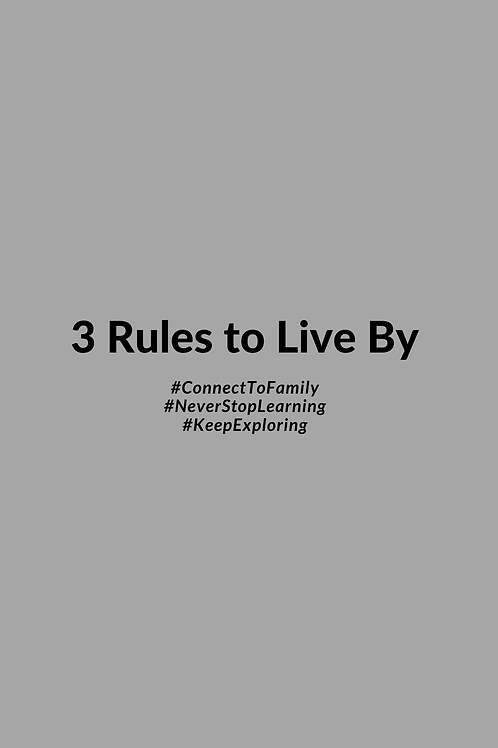3 Rules to Live By Phone Wallpaper