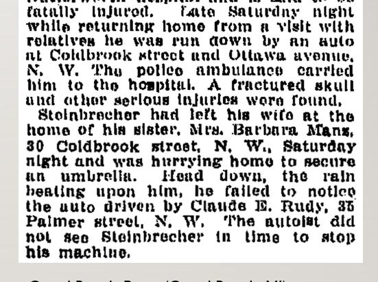 Looking for Ancestors in Newspapers