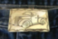 Collectible car custom sterling buckle