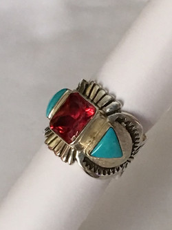 Contemporary Navajo turquoise ring