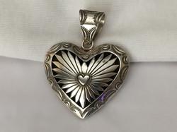 Navajo shadowbox heart