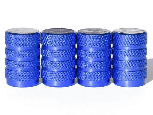 Blue Barrel Style Tire Valve Caps - Universal