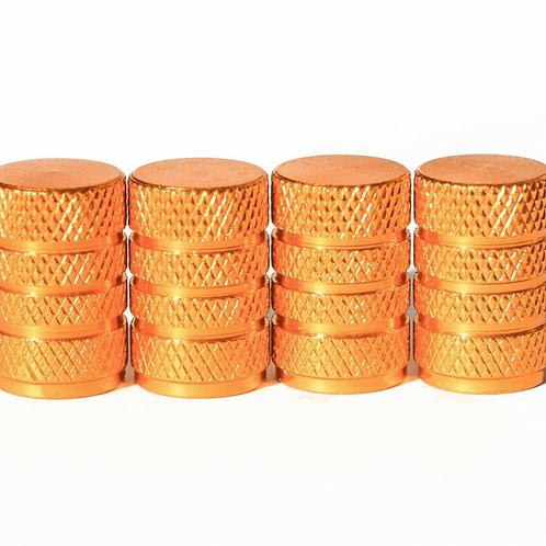 Gold Barrel Style Tire Valve Caps - Universal
