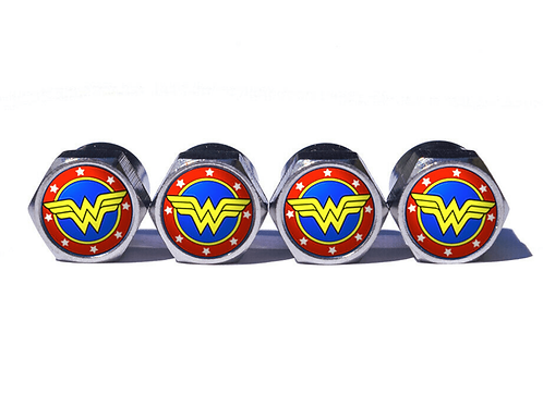 Wonder Woman Tire Valve Caps (style 1) - Copper, Chrome Coated