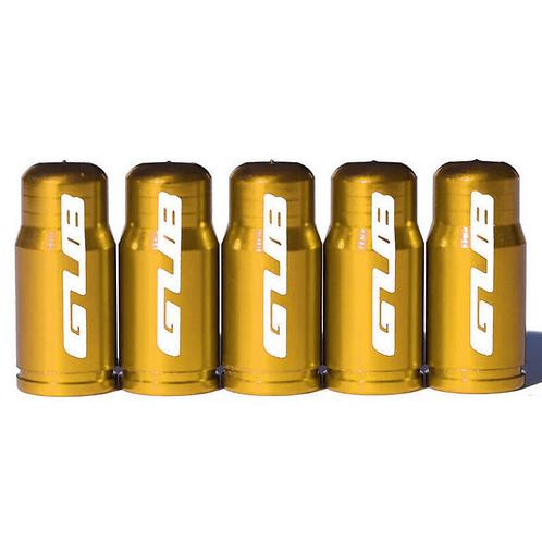 GUB Gold Presta Valve Caps for Road Bike Tubes