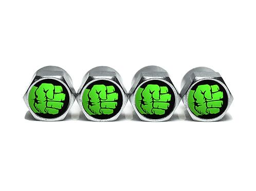 Hulk Fist Tire Valve Caps - Copper, Chrome Coated