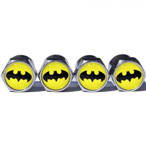 Batman Tire Valve Caps - Copper, Chrome Coated