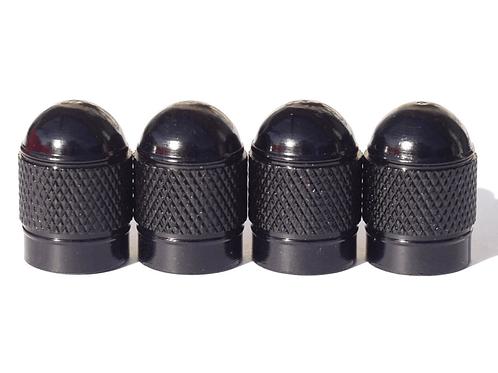 Black Bullet Style Tire Valve Caps - Universal