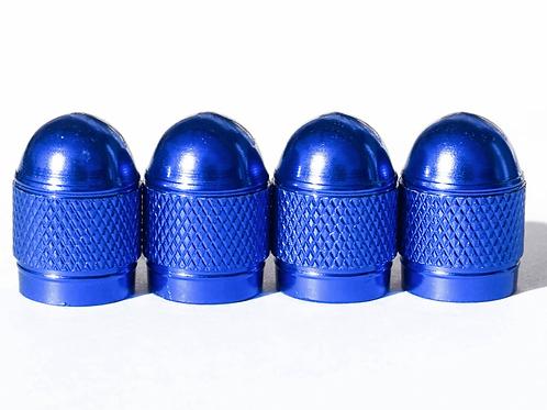 Blue Bullet Style Tire Valve Caps - Universal