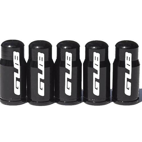 GUB Black Presta Valve Caps for Road Bike Tubes