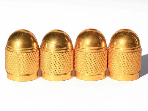 Gold Bullet Style Tire Valve Caps - Universal
