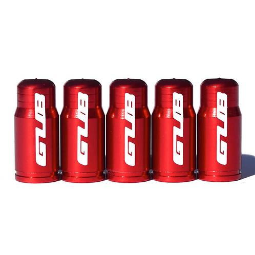 GUB Red Presta Valve Caps for Road Bike Tubes