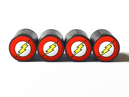 The Flash Tire Valve Caps - Aluminum, Black Coated