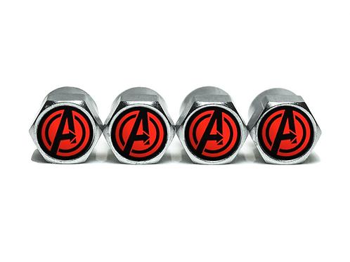 Avengers Tire Valve Caps - Copper, Chrome Coated