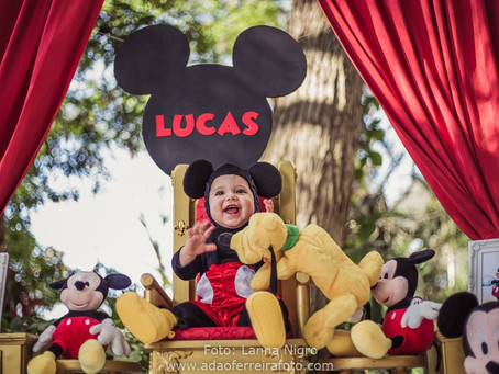 Smash the cake Mickey {Lucas}