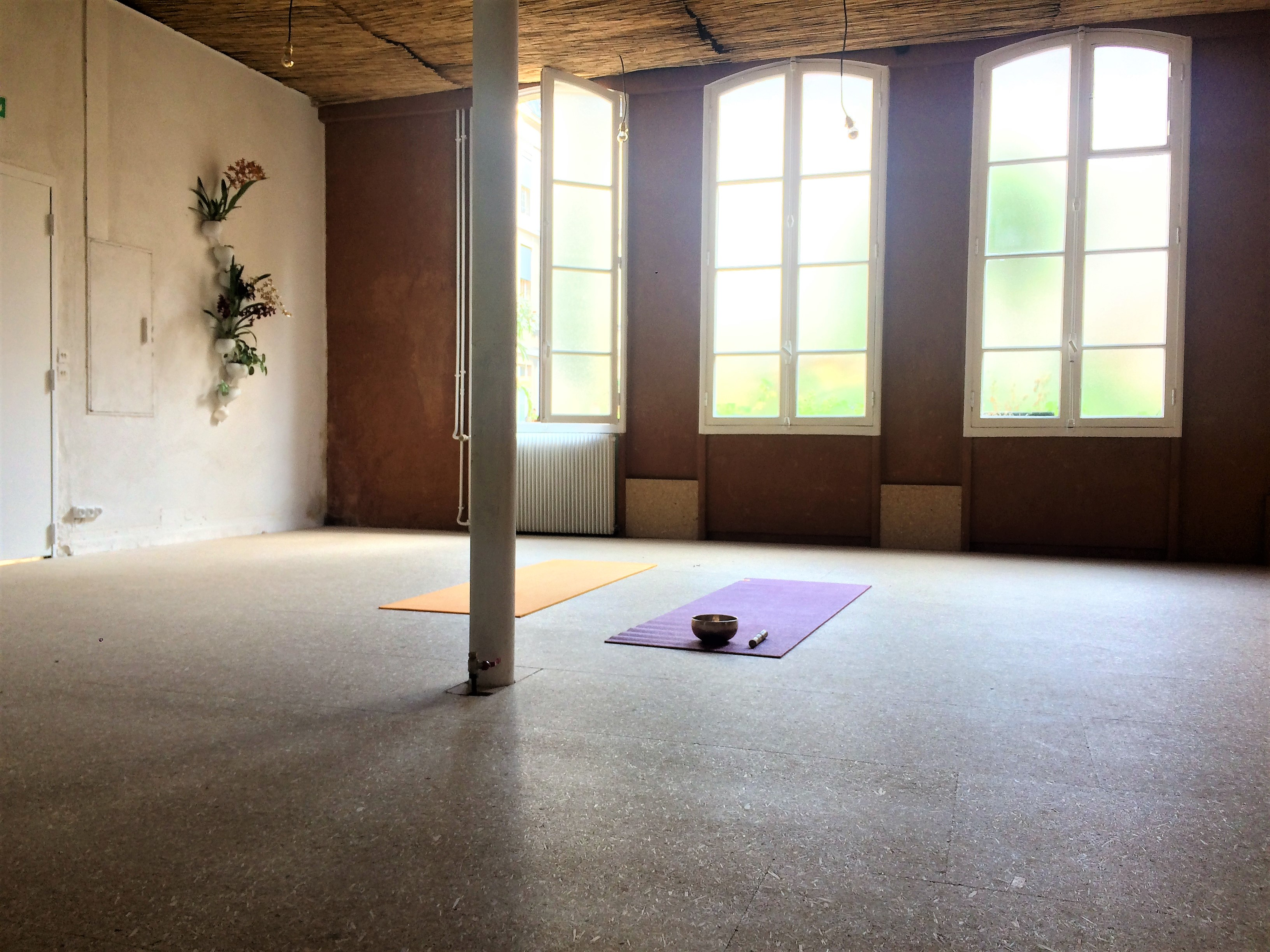yoga grands voisins ici terre salle
