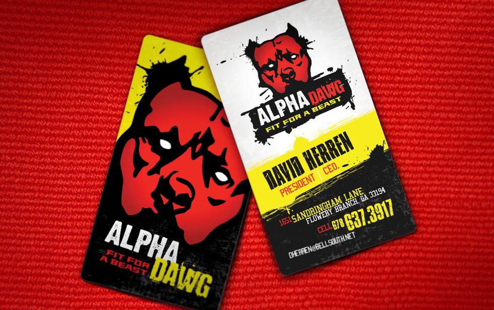 Alpha Dawg Business Card