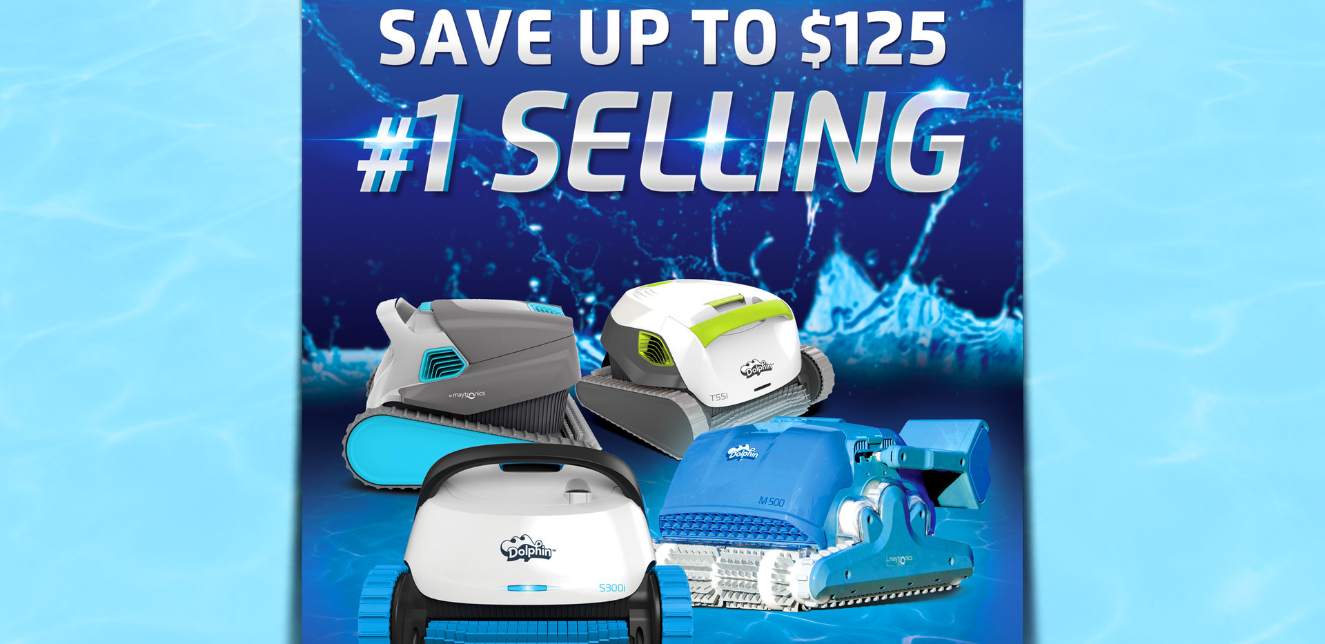 Dolphin Robotic Pool Cleaner Poster