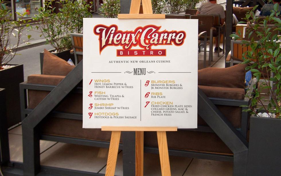 Vieux Carre Bistro A-Frame Sign