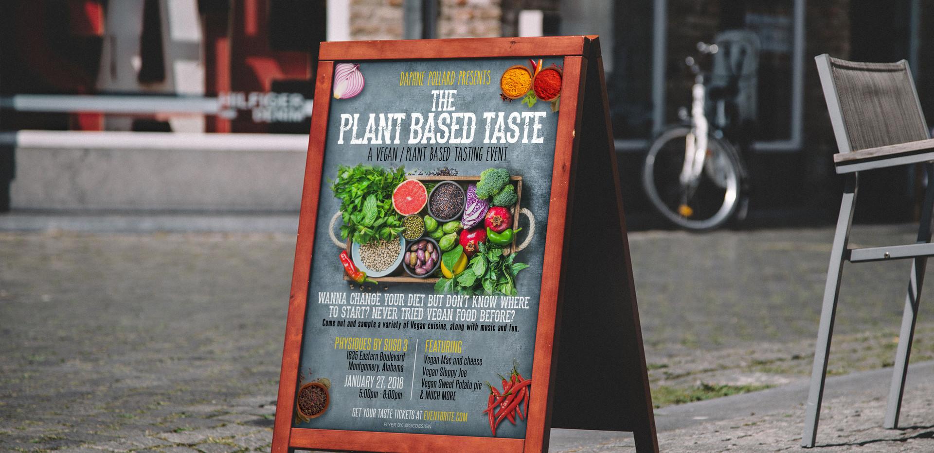 Plant Based A-Frame Signage