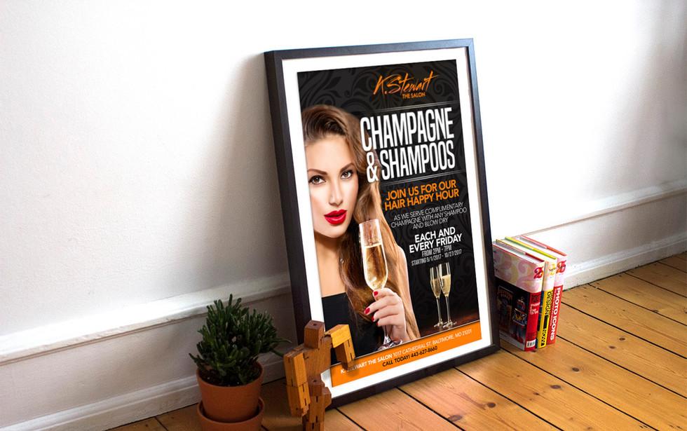 K. Stewart Salon Poster