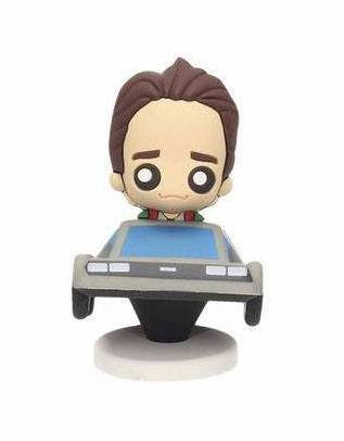 Back to the Future Pokis Rubber Minifigure Marty & DeLorean 6 cm