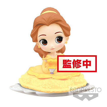Q Posket - Disney -  Belle - B Milky Color Version 9 cm