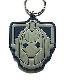 Portachiavi - Doctor who - Cyberman testa gomma 6cm