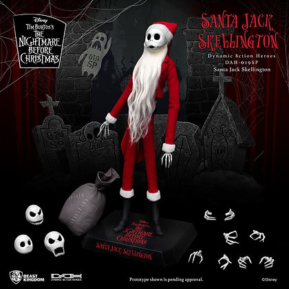 Nightmare before Christmas Dynamic 8ction Heroes  1/9 Santa Jack Skellington