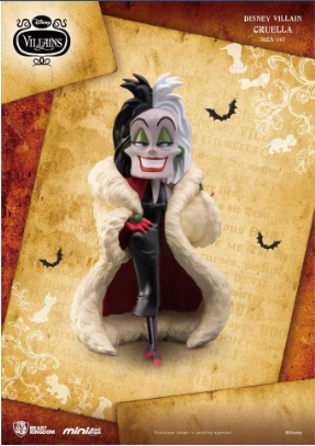 Disney - Villains Mini Egg Attack Figure Cruella 8 cm