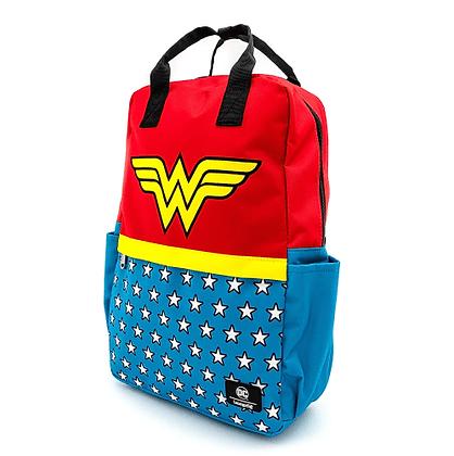 Loungefly x DC comics Wonder Woman Vintage Nylon Square Backpack