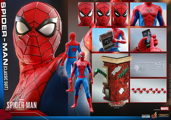Hot Toys Marvel's Spider-Man Masterpiece 1/6  (Classic Suit) 30cm