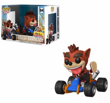 Funko Pop - Games - Pop Rides - Crash Team Racing - Crash Bandicoot