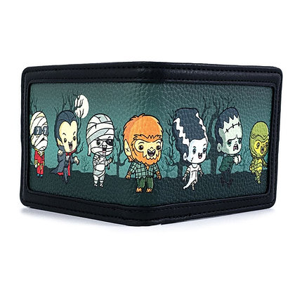 Loungefly Universal Monsters Wallet Chibi AOP